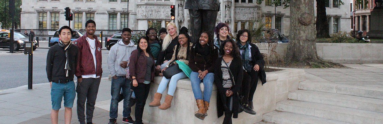 FOA Participants at Mandela Statue