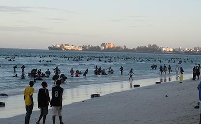 Mombasa Beach Scene