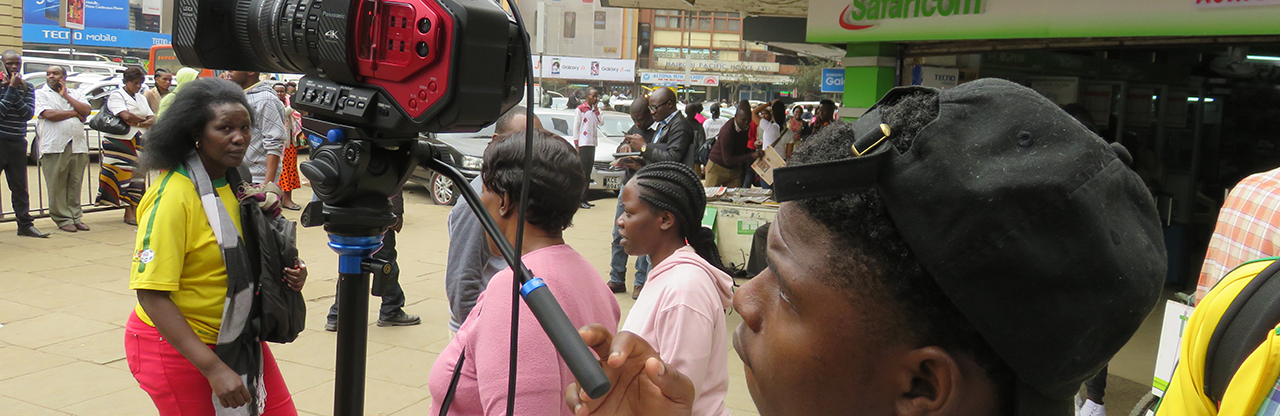 On location in Nairobi